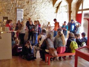 Classe d'un collège allemand qui visite au musée Charles Portal