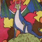 Musée Charles Portal - dessin élève - dragon