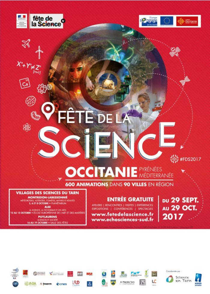 Affiche de la fête de la science 2017 Tarn - Occitanie