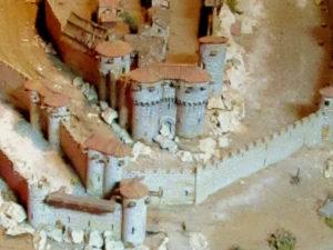 Maquette géante de Cordes sur Ciel au XIIIe siècle - Gros plan