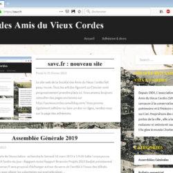 Page d'accueil du site savc.fr